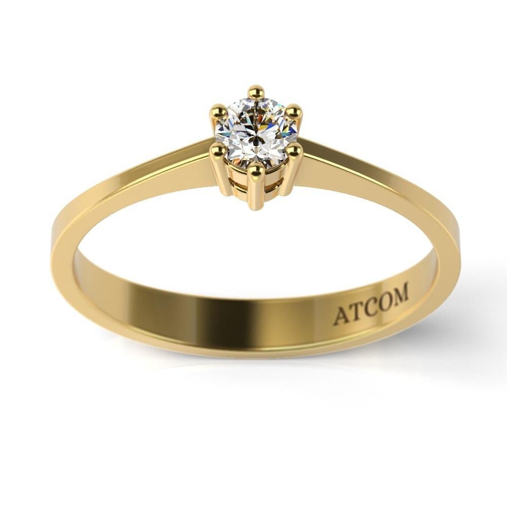 Inel De Logodna Atcom Lux Cu Diamant Magellan Aur Galben