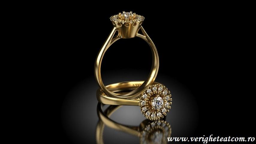 inele de logodna aur